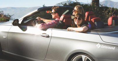 California in a Getaround car