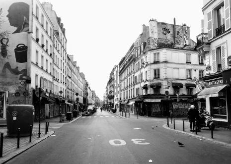 Corona-Paris in my street.